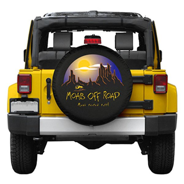 "Boomerang® - 27"" Soft Series Moab Off-Road Black Spare Tire Cover"
