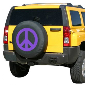 "Boomerang TC-PS30-PU-15 - 29/30"" Soft Series Peace Sign Purple Print Tire Cover"