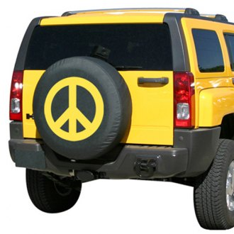 "Boomerang TC-PS30-Y-15 - 29/30"" Soft Series Peace Sign Yellow Print Tire Cover"