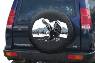 "Boomerang® TC-WLAE33-15 - 33"" Soft Series Wildfire Tire Cover with American Eagle Logo"