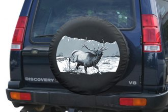 "Boomerang® - Soft Series Wildlife Tire Cover with Elk Logo (31"")"