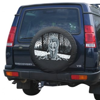 "Boomerang® - 29/30"" Soft Series Wildfire Tire Cover with Mountain Lion Logo"