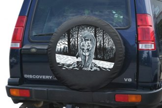 "Boomerang® - Soft Series Wildlife Tire Cover with Mountain Lion Logo (31"")"