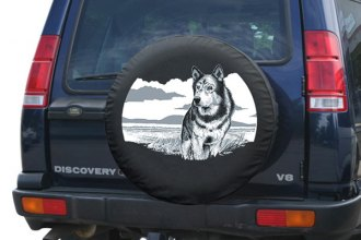 "Boomerang® - Soft Series Wildlife Tire Cover with Wolf Logo (31"")"