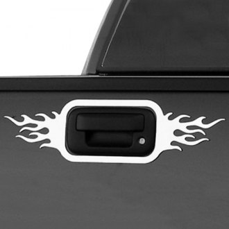 Bores® - Flame Style Polished Tailgate Handle Bezels