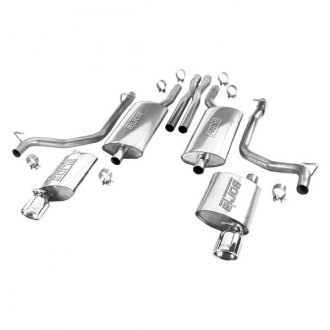 Borla® - Touring™ Single Cat-Back Exhaust System with Single Split Rear Exit