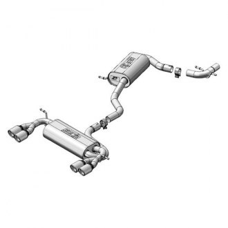 Borla® - Touring™ Stainless Steel Dual Cat-Back Exhaust System with Dual Split Rear Exit
