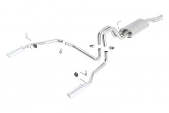 Borla® 140137 - Touring™ Stainless Steel Cat-Back Exhaust System (Single Split Rear Exit)