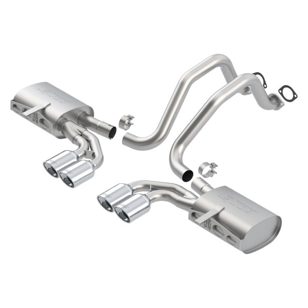 Borla® - Touring™ Stainless Steel Cat-Back Exhaust System (Split Rear Exit)