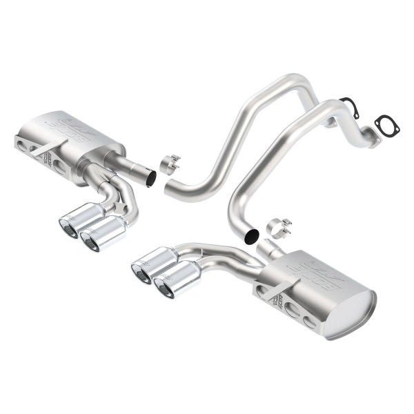 Borla® - ATAK™ Stainless Steel Cat-Back Exhaust System - Split Rear Exit