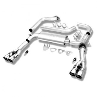 "Borla® - 3"" Adj™ Stainless Steel Dual Cat-Back Exhaust System with Dual Split Rear Exit"
