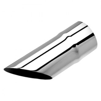 Borla® - Stainless Steel Round Rolled Edge Angle Cut Single Polished Exhaust Tip