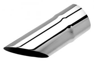 Borla® - Polished Single Rolled Angle Cut Tip