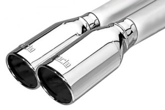 Borla® - Polished Dual Rolled Angle Cut Intercooled Tip