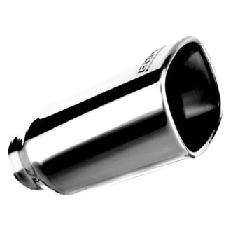 Borla® - Stainless Steel Square Rolled Edge Angle Cut Single Polished Exhaust Tip