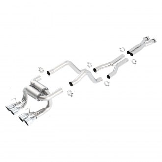 Borla® - ATAK™ Stainless Steel Exhaust System with Quad Rear Exit