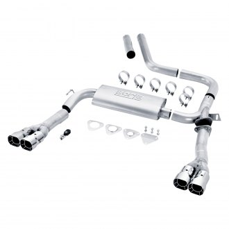 Borla® - S-Type™ Stainless Steel Cat-Back Exhaust System with Quad Rear Exit