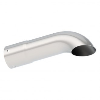 Borla® - Stainless Steel Turndown Clamp-On Polished Exhaust Tip