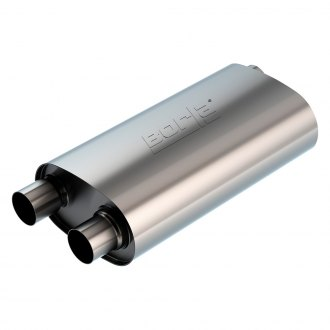 Borla® - Transverse Flow™ Stainless Steel Oval Exhaust Muffler