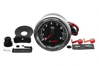 "Bosch® - 3-3/8"" Super Tach II Tachometer (Chrome Bezel and Black Faceplate)"