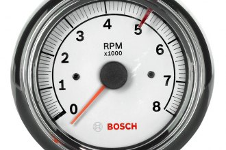 "Bosch® - 3-3/8"" Super Tach II Tachometer (Chrome Bezel and White Faceplate)"