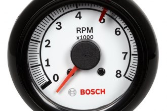 "Bosch® - 2-5/8"" Mini Super Tach II Tachometer (Black Bezel and White Faceplate)"