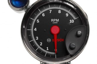 "Bosch® - 5"" Super Tach III™ Tachometer with Shift Light (Chrome Bezel and Black Faceplate)"