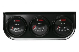 Bosch® - Custom Line Series 3-Gauge Kit (Black Panel and Black Faceplate)