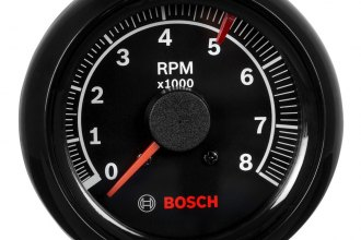 "Bosch® - 2-5/8"" Mini Super Tach II Tachometer (Black Bezel and Black Faceplate)"
