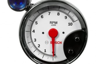 "Bosch® - 5"" Super Tach III™ Tachometer with Shift Light (Chrome Bezel and White Faceplate)"
