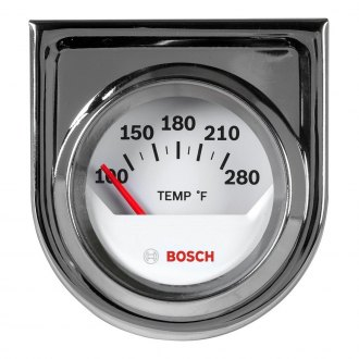Bosch® - 2 StyleLine™ Chrome Electrical Oil / Water Temperature Gauge