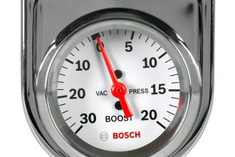 "Bosch® - 2"" StyleLine™ White Mechanical Vacuum / Boost Gauge"