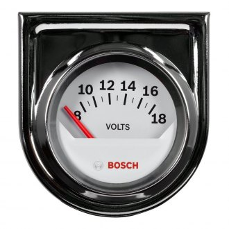 Bosch® - 2 StyleLine™ Chrome Electrical Voltmeter Gauge
