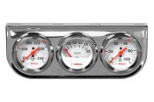 "Bosch® - 2"" StyleLine™ Triple Gauge Kit (Chrome Panel and White Faceplate)"