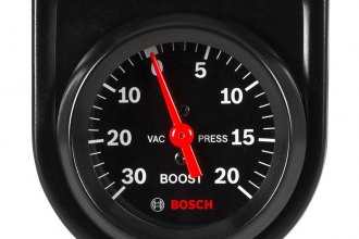 "Bosch® - 2"" StyleLine™ Black Mechanical Vacuum / Boost Gauge"