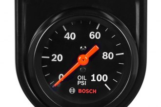 "Bosch® SP0F000052 - 2"" StyleLine™ Black Mechanical Oil Pressure Gauge"
