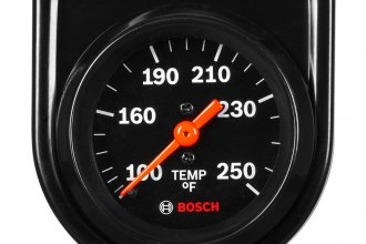 "Bosch® SP0F000053 - 2"" Style Line™ Black Mechanical Oil/Water Temperature Gauge"