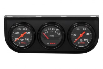 "Bosch® SP0F000054 - 2"" StyleLine™ Triple Gauge Kit (Black Panel and Black Faceplate)"