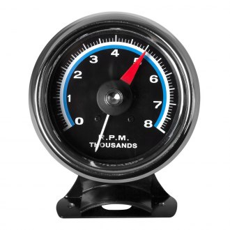Bosch® - 3-3/8 Retro Line™ Tachometer (Chrome Cup and Black Faceplate)