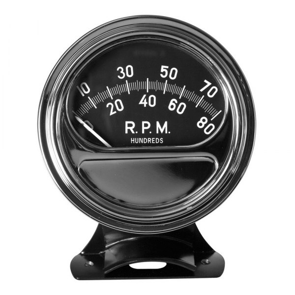 "Bosch® - 3-3/8"" Retro Line™ Tachometer (Chrome Cup and Black Faceplate)"