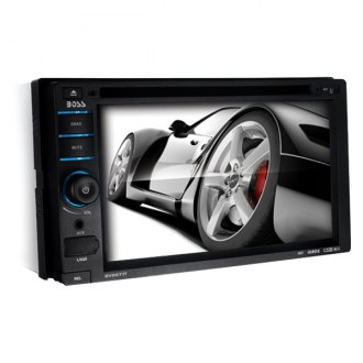 "BOSS® - Double DIN DVD/CD/AM/FM/MP3/WMA In-Dash Receiver with 6.2"" Touchscreen Monitor, Built-In Bluetooth and iPodControl"