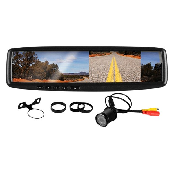 "BOSS® - Rear View Mirror with 4.3"" TFT Monitor and Back-Up Color Camera"