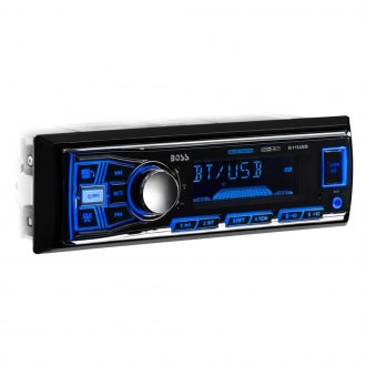 BOSS® - Single DIN AM/FM/MP3/WMA Receiver with Built-In Bluetooth, Non-Detachable Faceplate