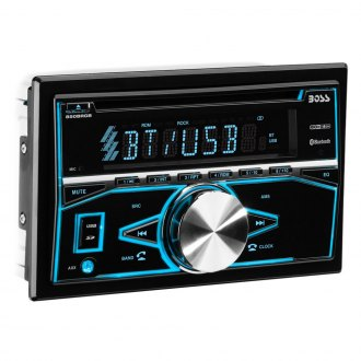 BOSS® - Double DIN CD/AM/FM/MP3 Stereo Receiver with Front Aux Remote and Built-In Bluetooth
