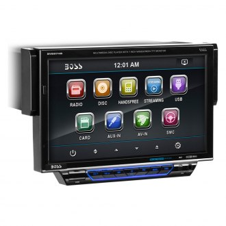 "BOSS® - Single DIN DVD/CD/AM/FM/MP3/WMA Receiver with Drop Down 7"" TFT Touchscreen Monitor and Built-In Bluetooth"