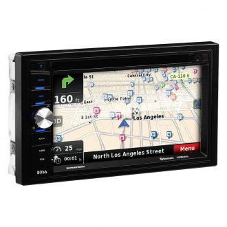 "BOSS® - Double DIN DVD/CD/AM/FM/MP3/WMA Receiver with 6.5"" Touchscreen Display Built-In Bluetooth and GPS Navigation"