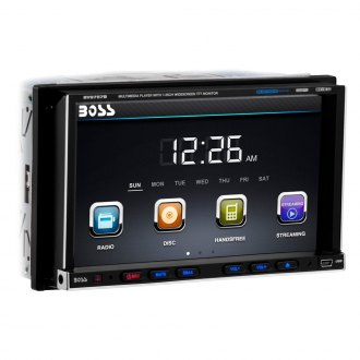 "BOSS® - Double DIN DVD/CD/AM/FM/MP3/WMA Receiver with 7"" TFT Touchscreen Monitor and Built-In Bluetooth"