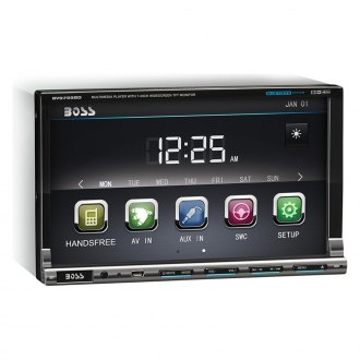 "BOSS® - Double DIN DVD/CD/AM/FM/MP3/WMA Receiver with 7"" Detachable TFT Touchscreen Monitor and Built-In Bluetooth"