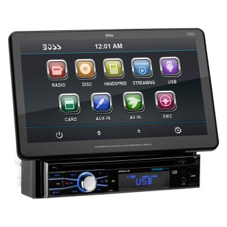 "BOSS® - Single DIN DVD/CD/AM/FM/MP3/WMA Receiver with 10.1"" TFT Touchscreen Monitor and Built-In Bluetooth"