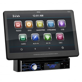 "BOSS® - Single DIN DVD/CD/AM/FM/MP3/WMA Receiver with 13.3"" Touchscreen Display and Built-In Bluetooth"